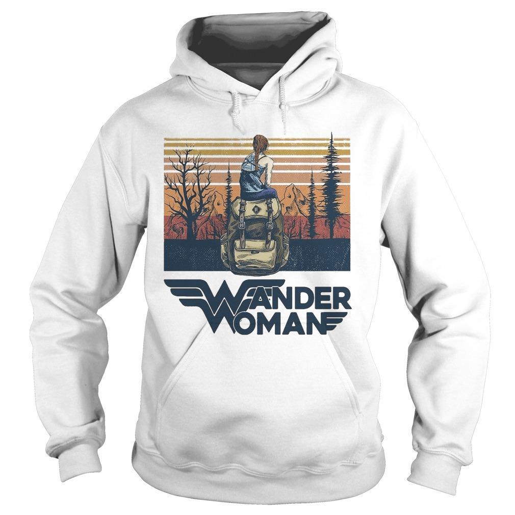 Vintage Camping Wander Woman Hoodie