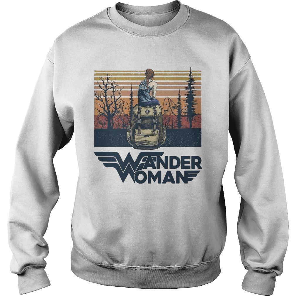 Vintage Camping Wander Woman Sweater