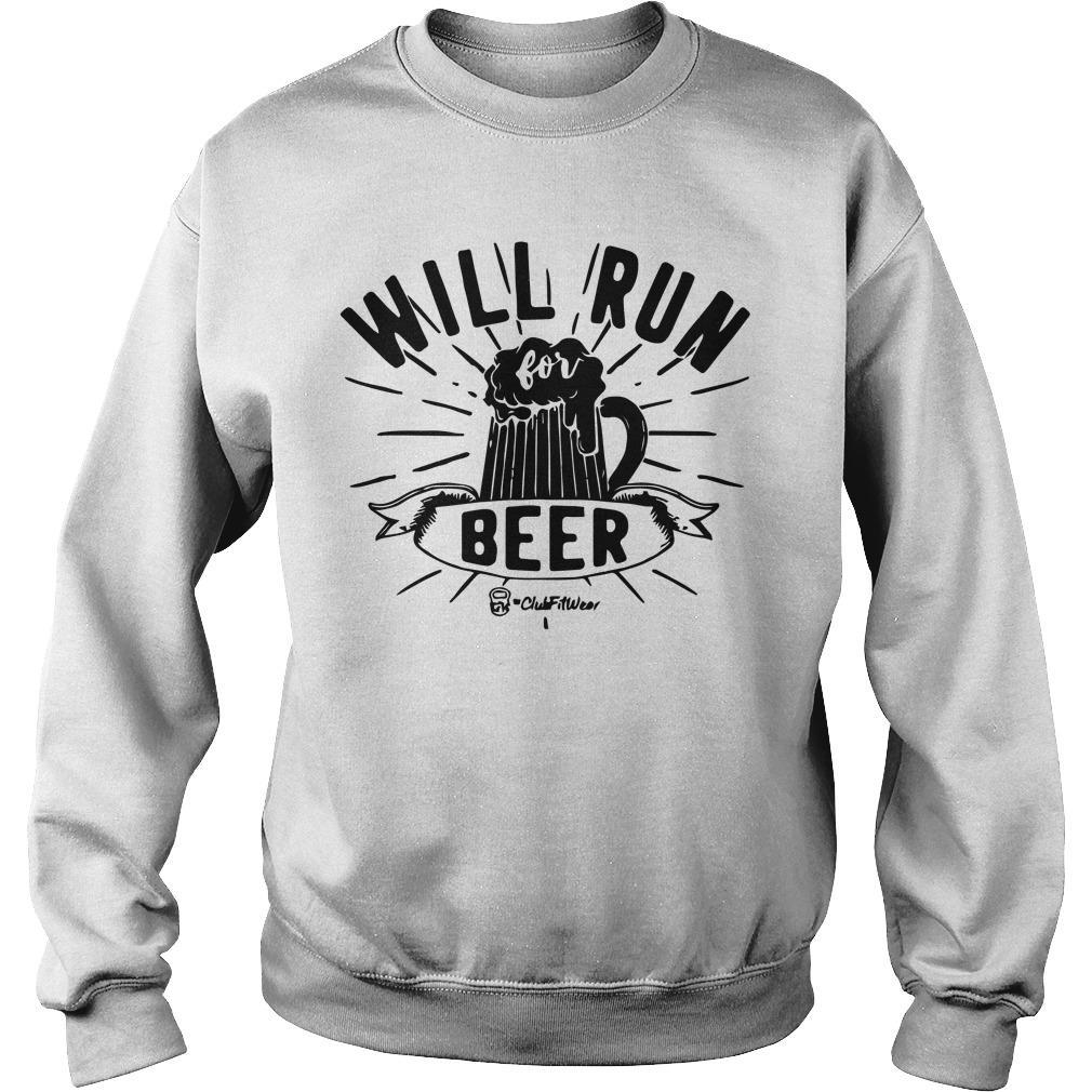 Will Run For Beer Sweater