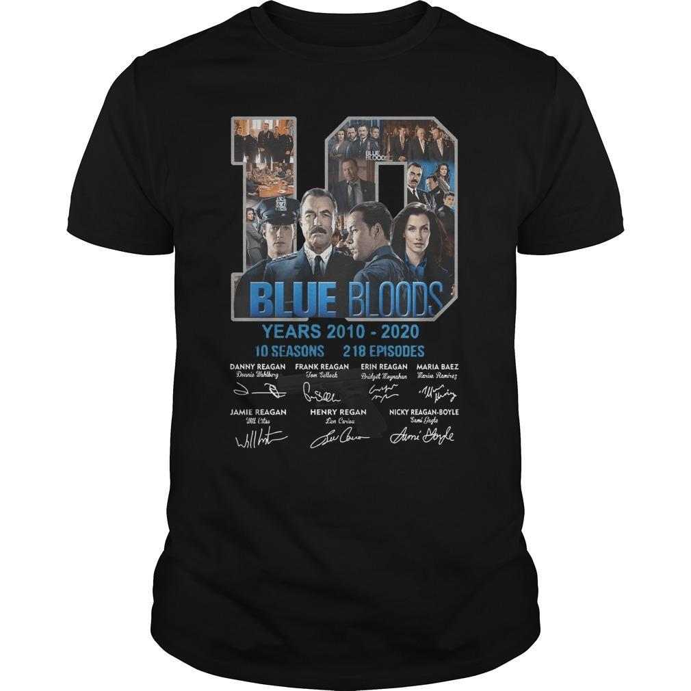 10 Years Blue Bloods 10 Seasons 218 Episodes Shirt