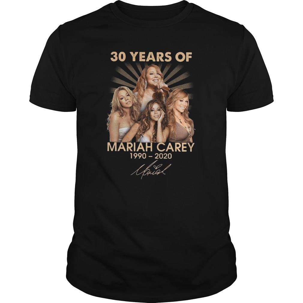 30 Years Of Mariah Carey 1990 2020 Shirt