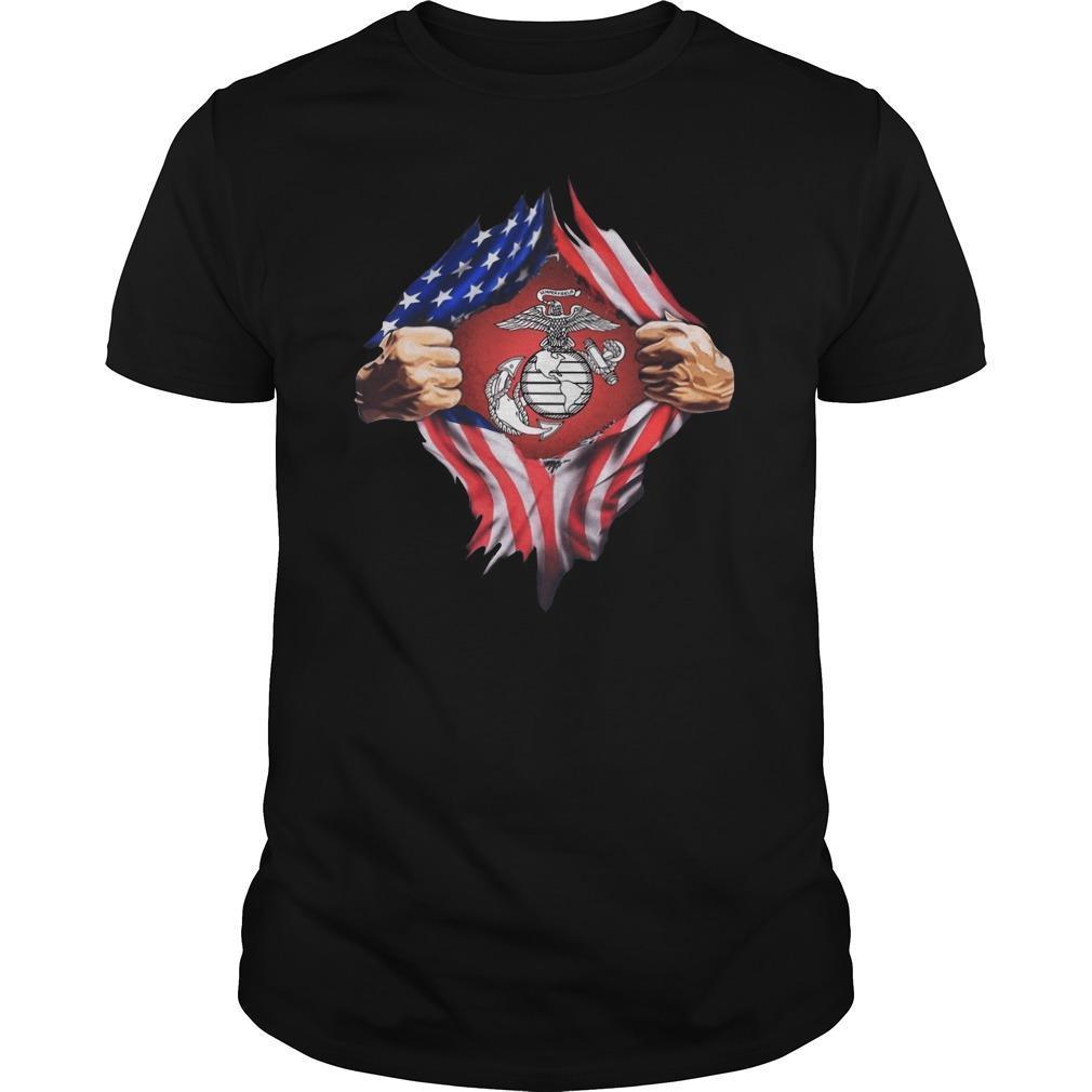 American Flag Marine Corps Shirt