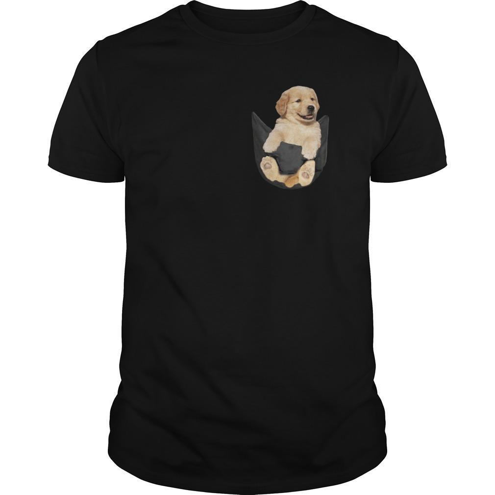 Baby Golden Retriever In Pocket Shirt