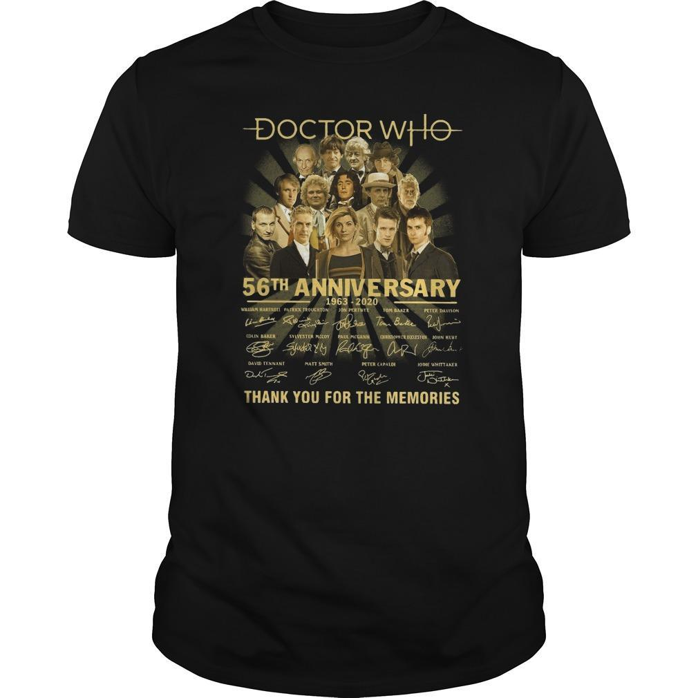 Doctor Who 56th Anniversary Thank You For The Memories Shirt