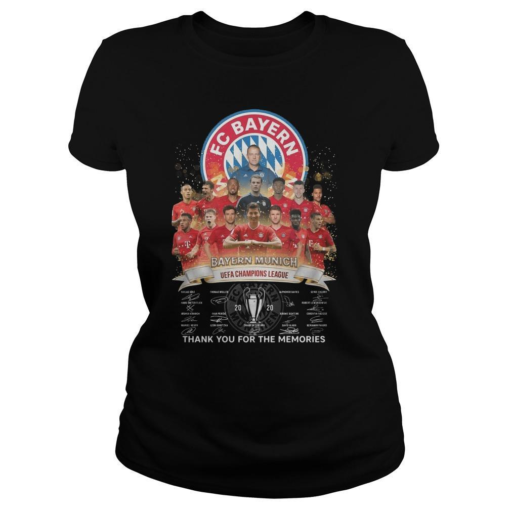 Fc Bayern Munich Uefa Champions League Thank You For The Memories Tank Top