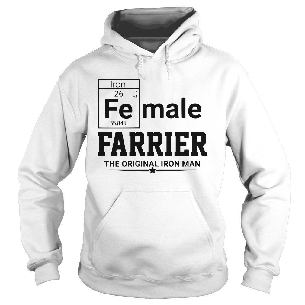 Female Farrier The Original Iron Man Hoodie