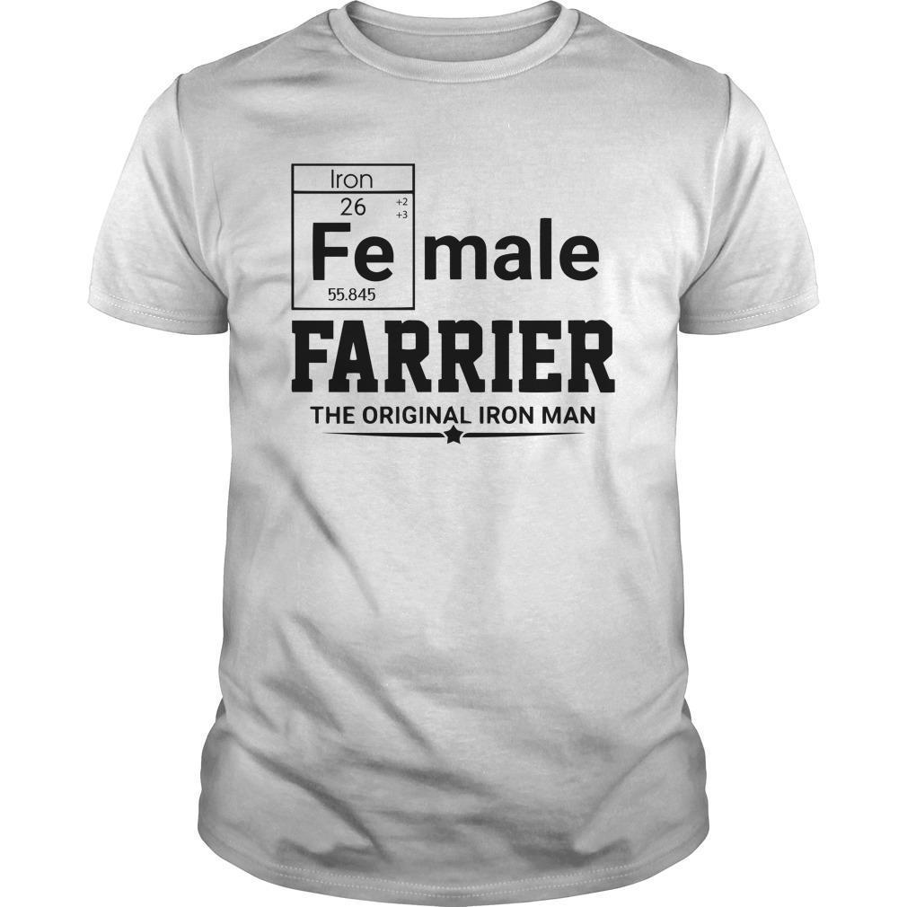 Female Farrier The Original Iron Man Shirt