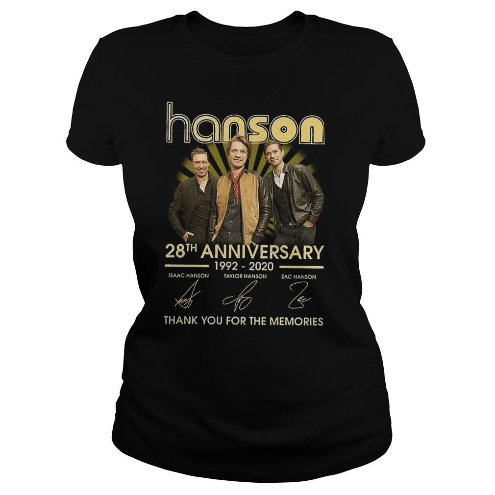 Hanson 28th Anniversary Thank You For The Memories Longsleeve