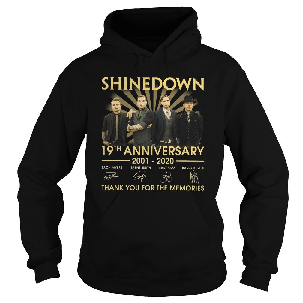Shinedown 19th Anniversary Thank You For The Memories Hoodie