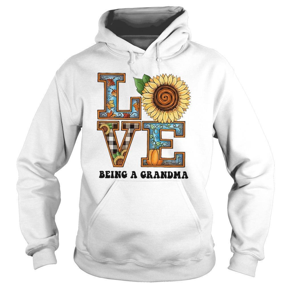 Sunflower Love Being A Grandma Hoodie