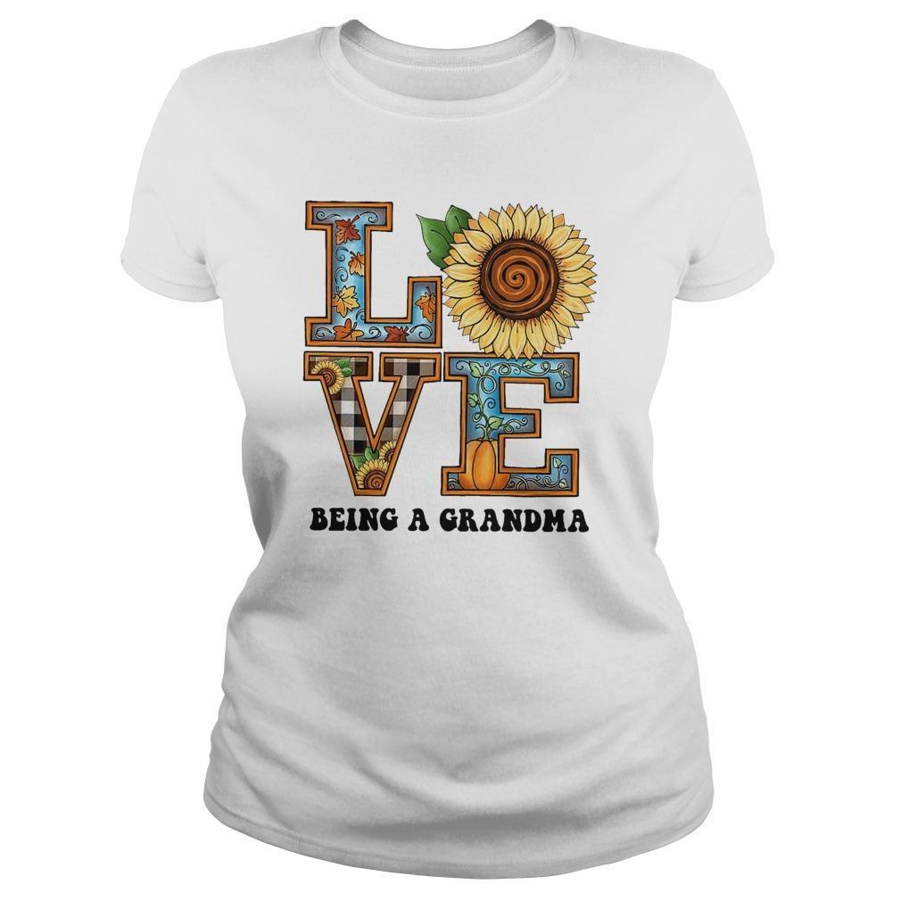 Sunflower Love Being A Grandma Longsleeve