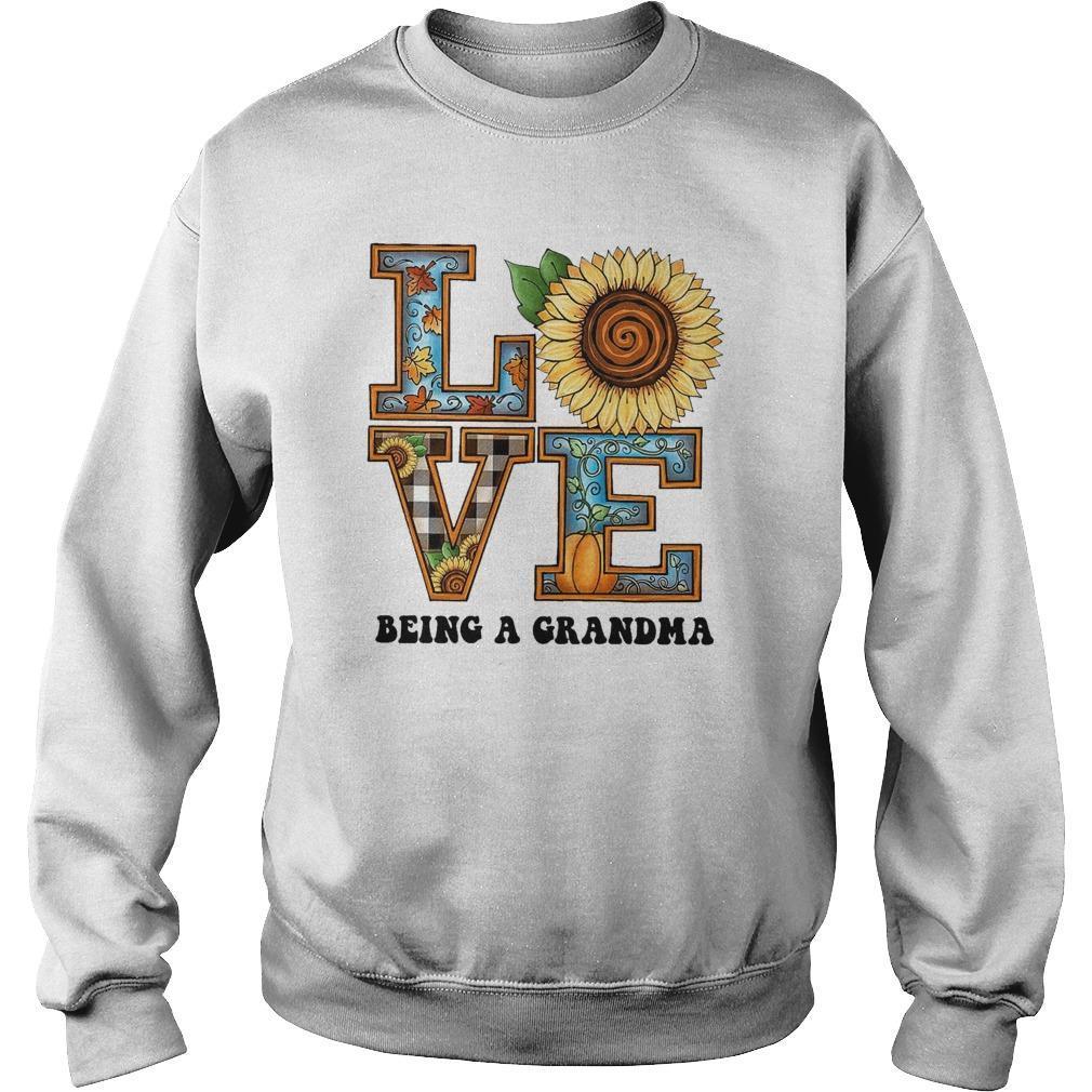 Sunflower Love Being A Grandma Sweater
