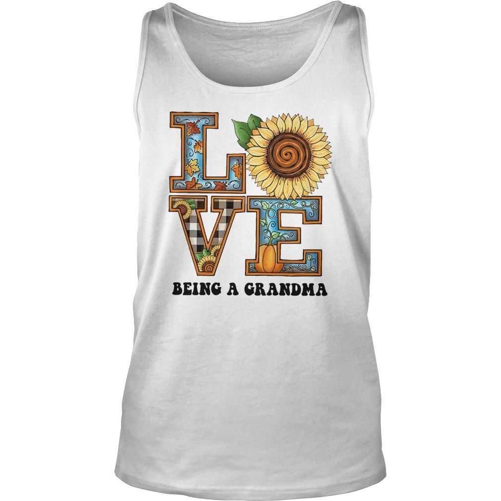 Sunflower Love Being A Grandma Tank Top
