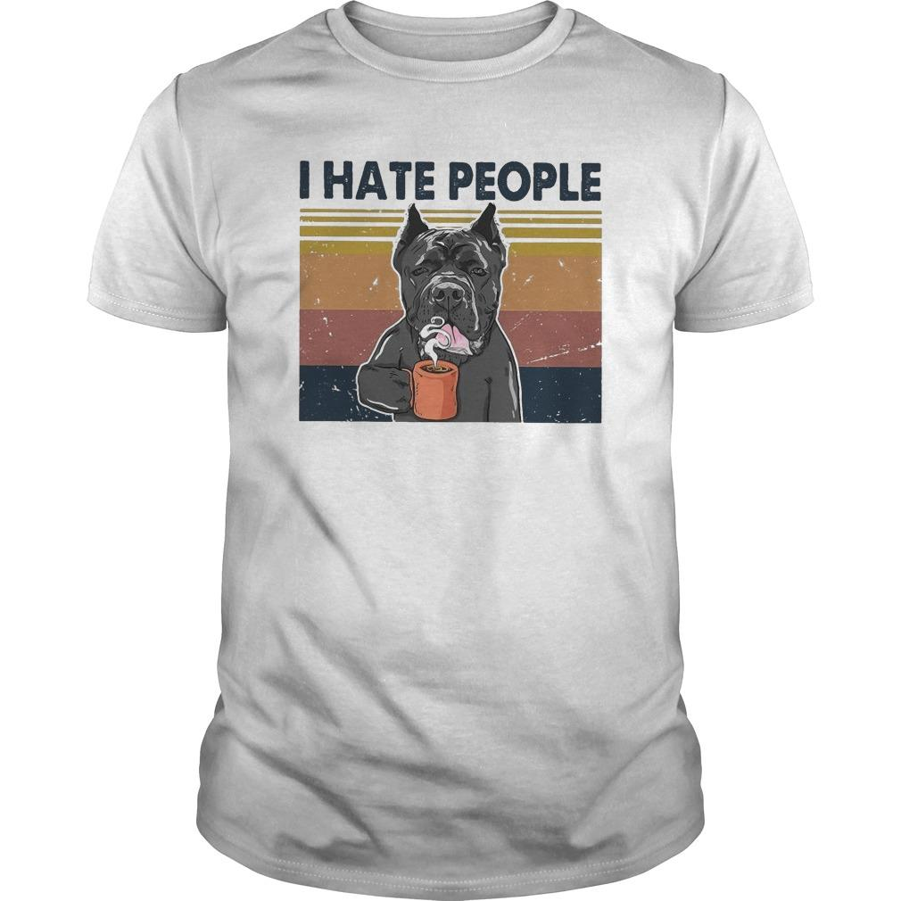 Vintage Bull Dog I Hate People Shirt