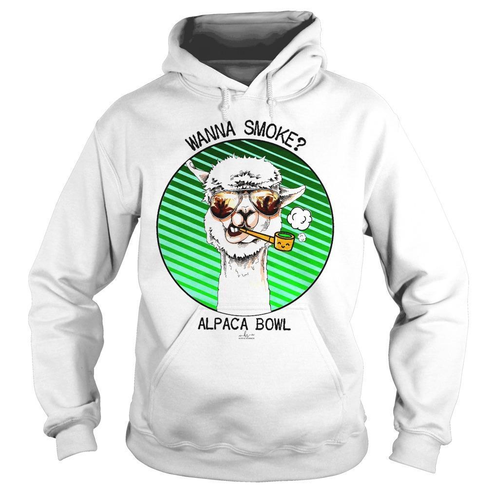 Wanna Smoke Alpaca Bowl Hoodie