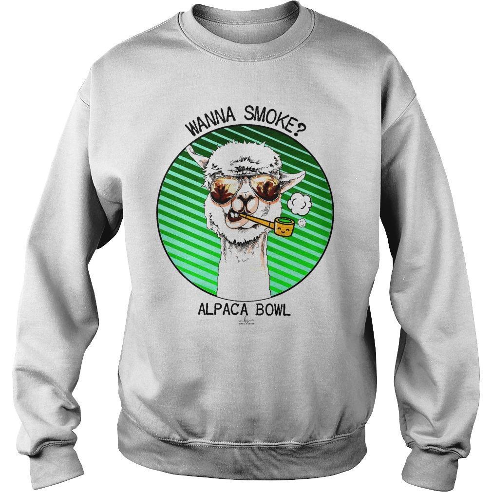 Wanna Smoke Alpaca Bowl Sweater
