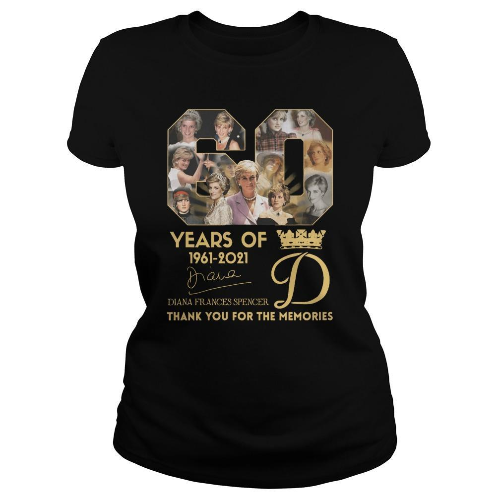 60 Years Of Diana Frances Spencer Thank You For The Memories Longsleeve