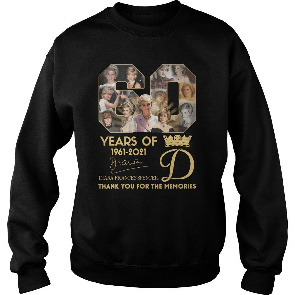 60 Years Of Diana Frances Spencer Thank You For The Memories Sweater