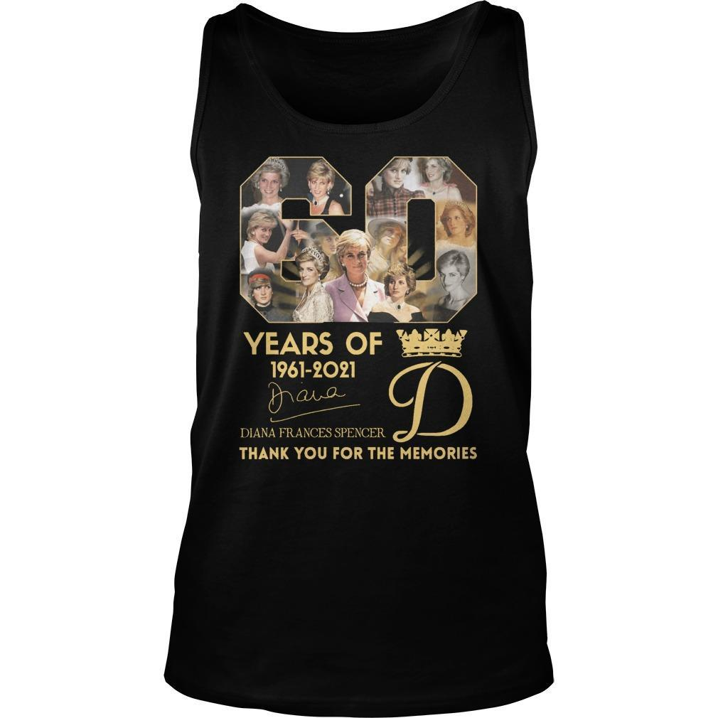 60 Years Of Diana Frances Spencer Thank You For The Memories Tank Top