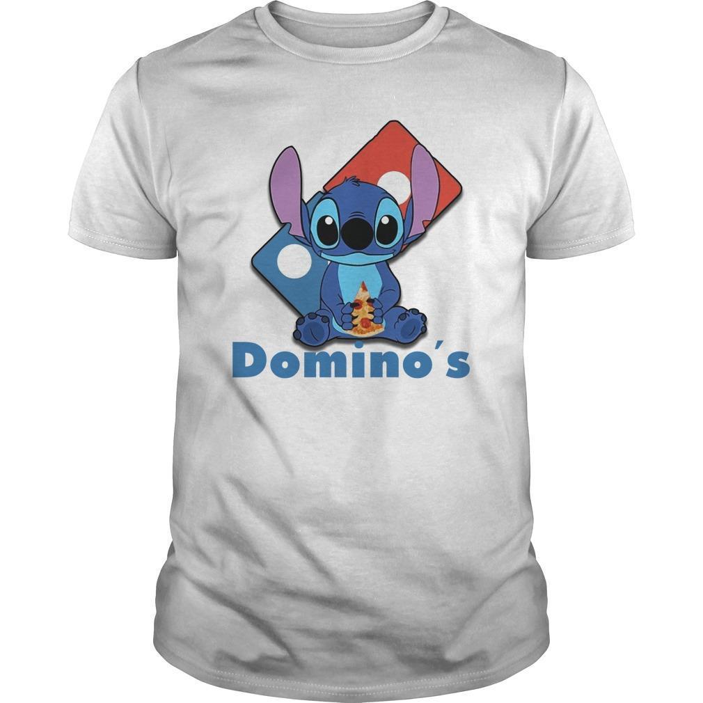 Baby Stitch Hugging Domino's Shirt