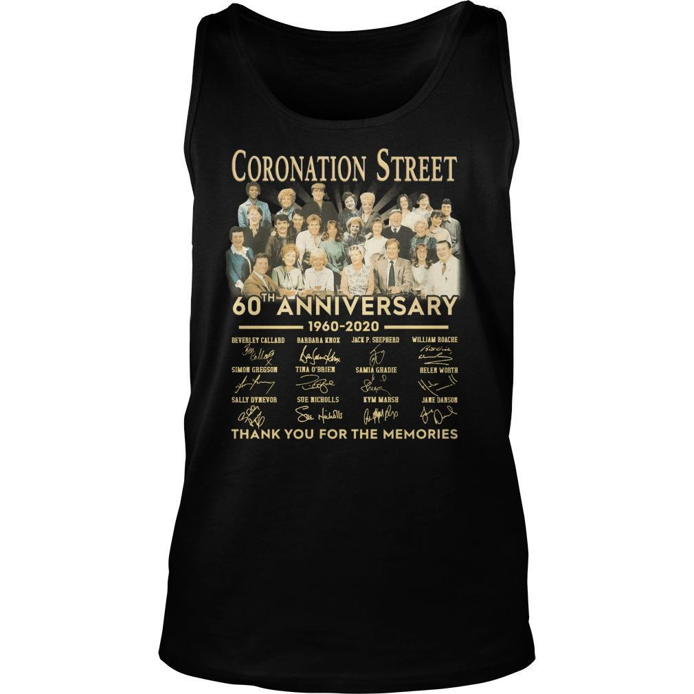 Coronation Street 60th Anniversary Thank You For The Memories Tank Top