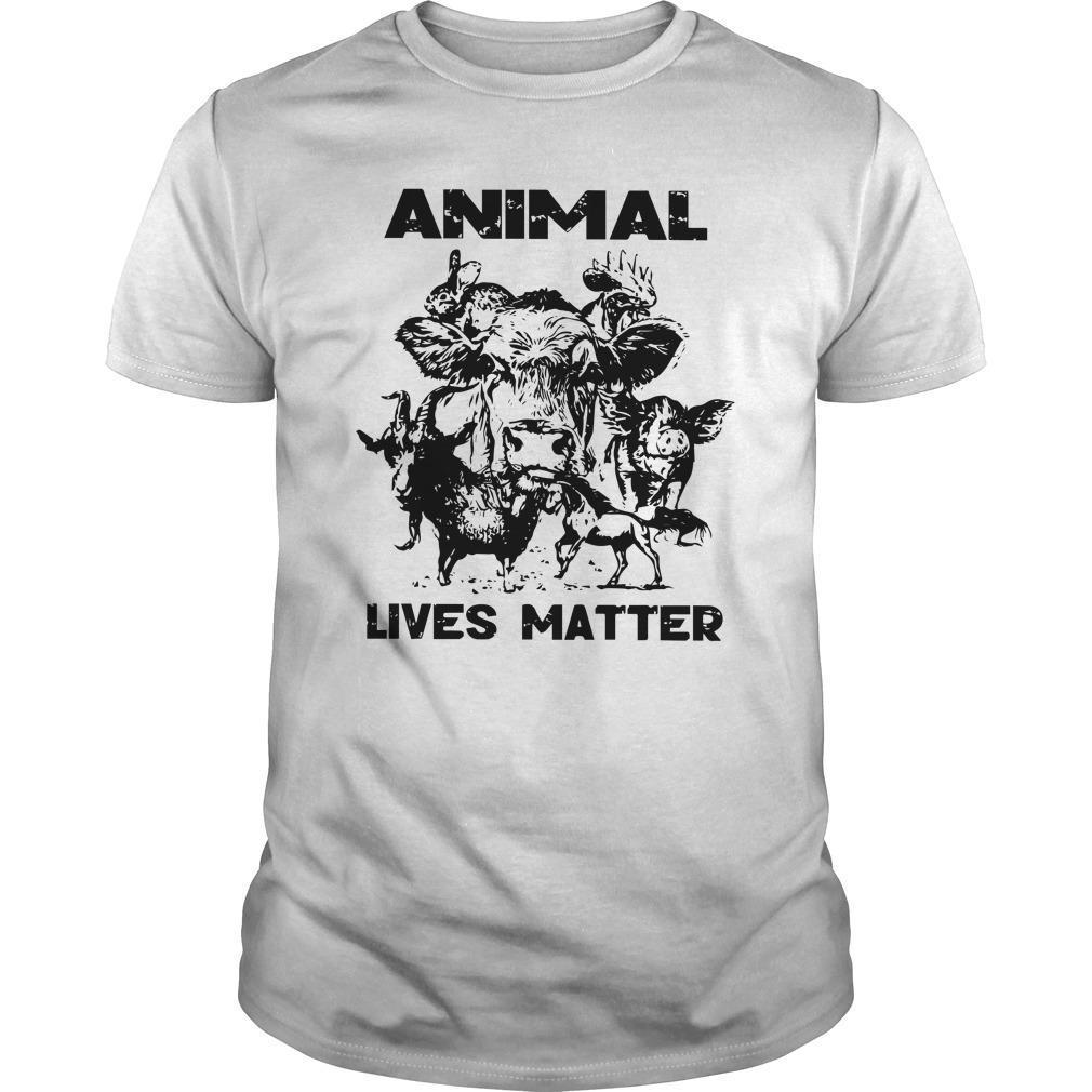 Cow Goat Horse Animal Lives Matter Shirt