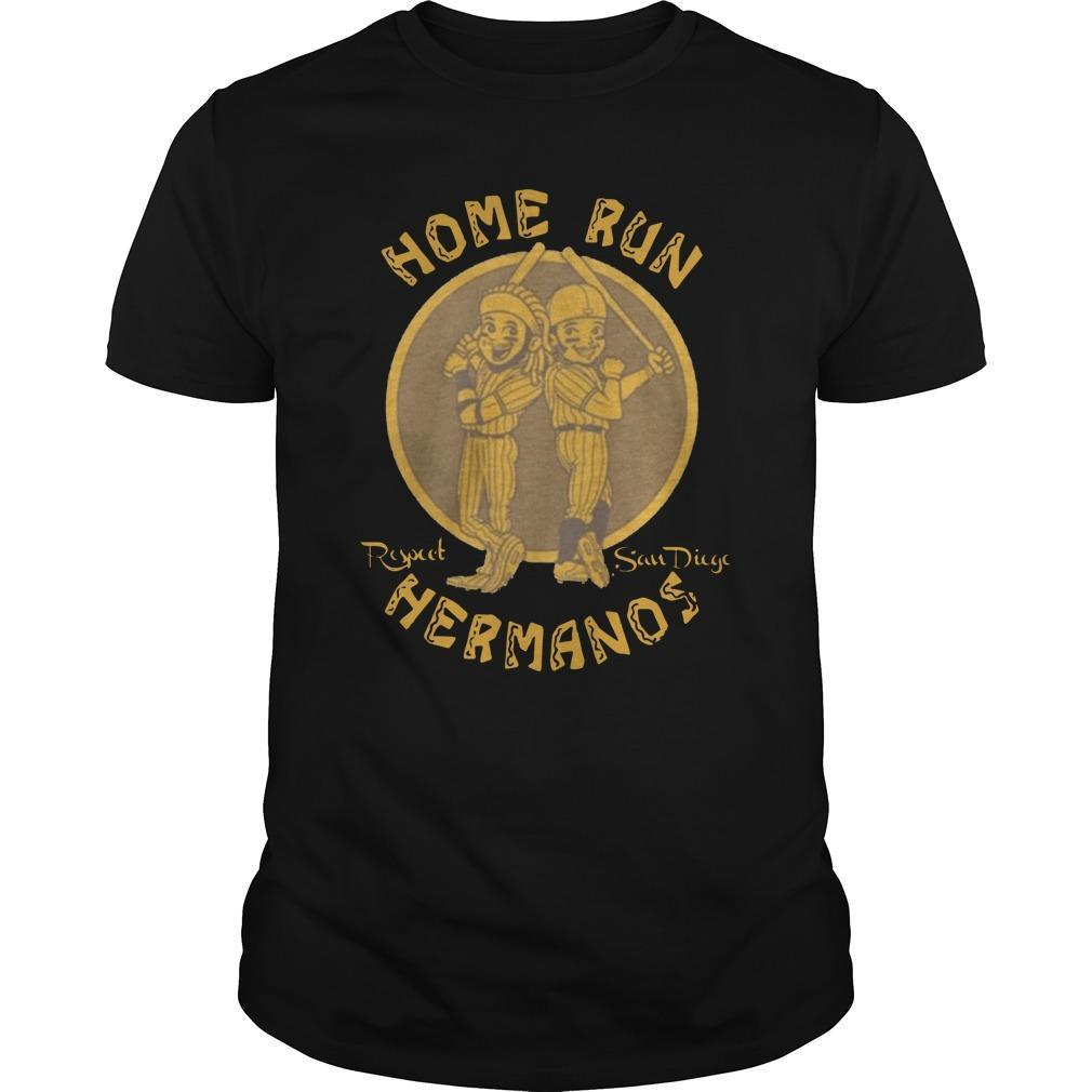 Home Run Respect San Diego Hermanos Shirt