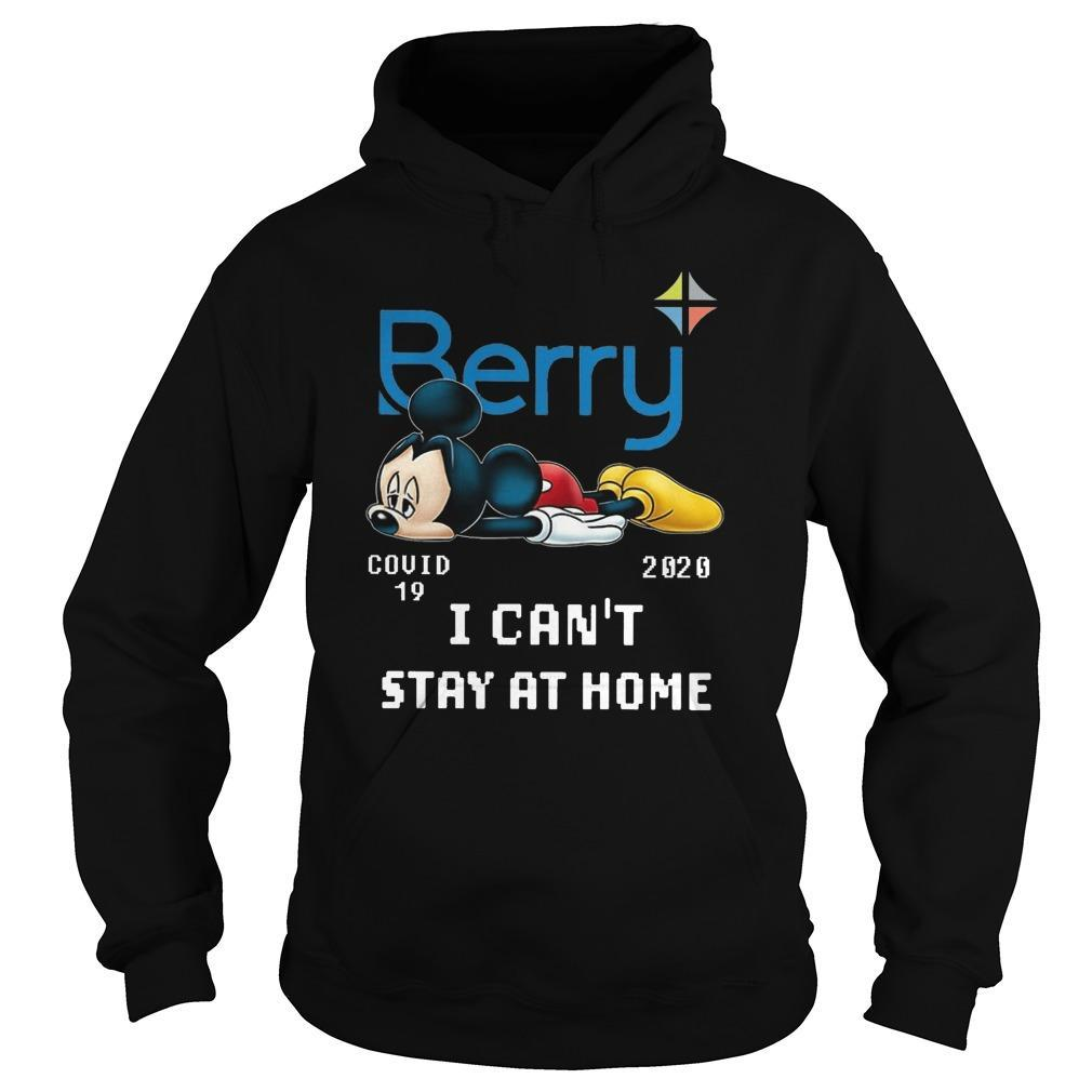 Mickey Mouse Berry Covid 19 2020 I Can't Stay At Home Hoodie