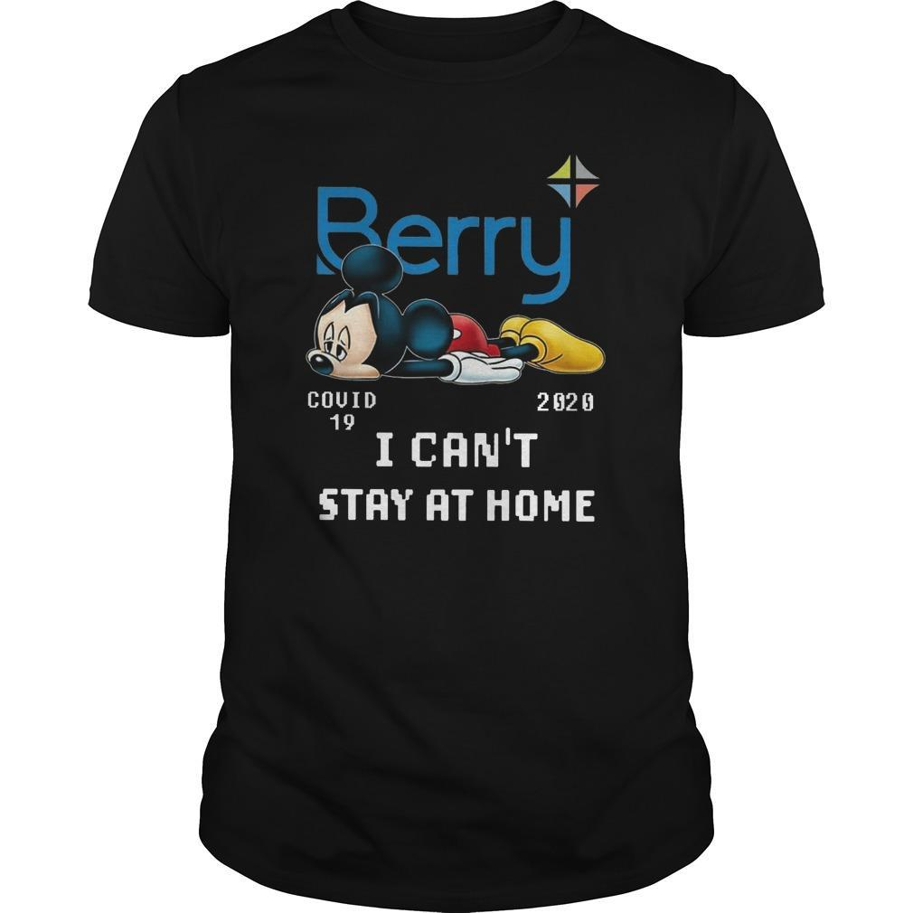 Mickey Mouse Berry Covid 19 2020 I Can't Stay At Home Shirt
