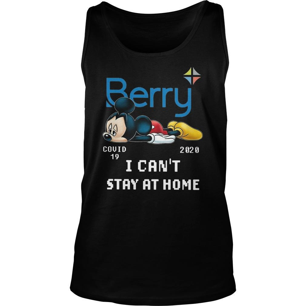 Mickey Mouse Berry Covid 19 2020 I Can't Stay At Home Tank Top