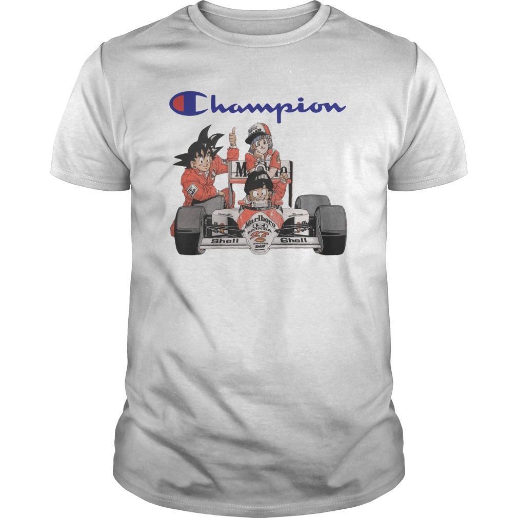 Son Goku Son Gohan Bulma Champion Shirt