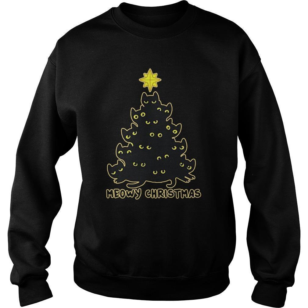 Christmas Tree Meowy Christmas Sweater