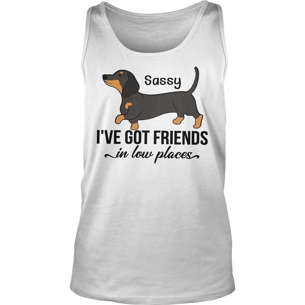 Dachshunds Sassy I've Got Friends In Low Places Tank Top