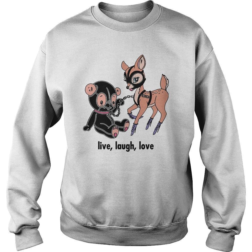 Deer Live Laugh Love Sweater