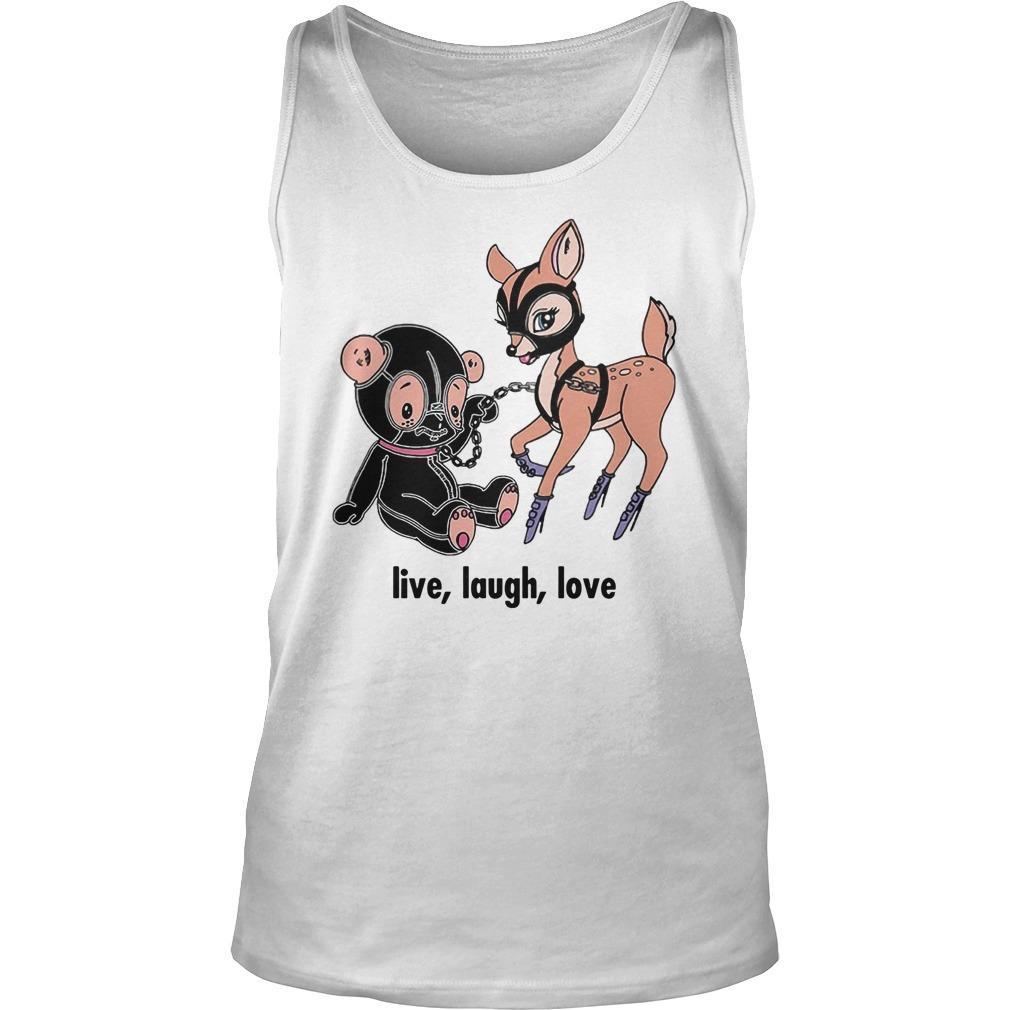 Deer Live Laugh Love Tank Top