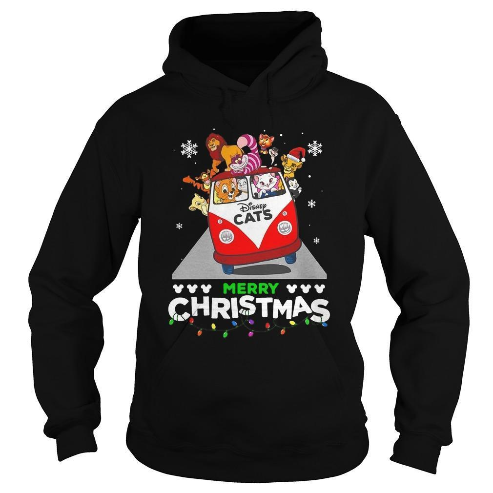 Disney Cat Merry Christmas Hoodie