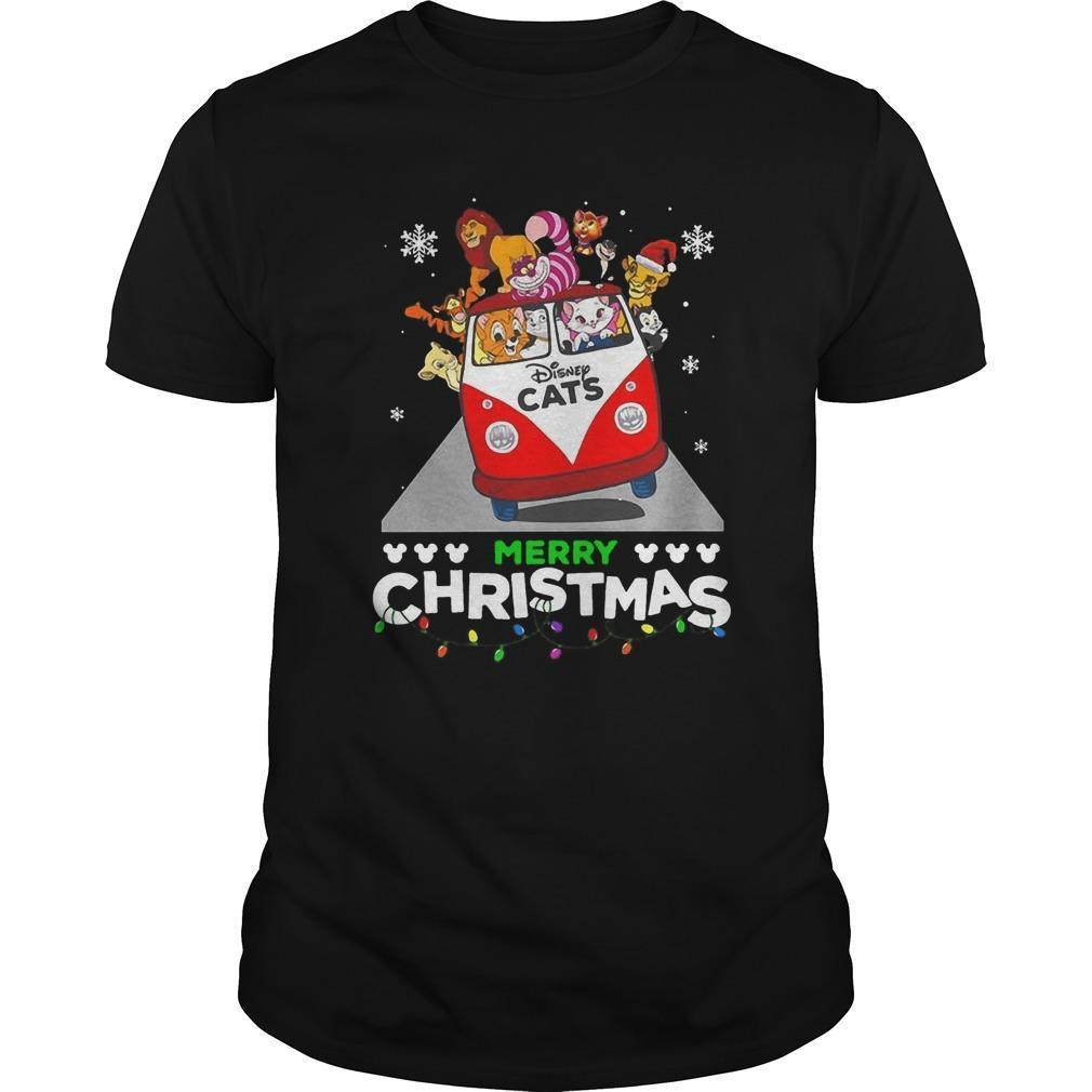 Disney Cat Merry Christmas Shirt