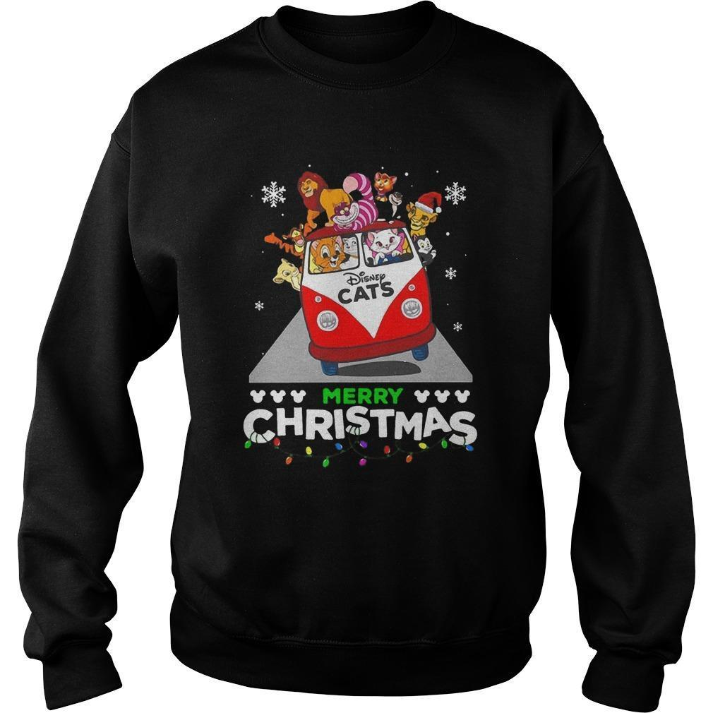 Disney Cat Merry Christmas Sweater