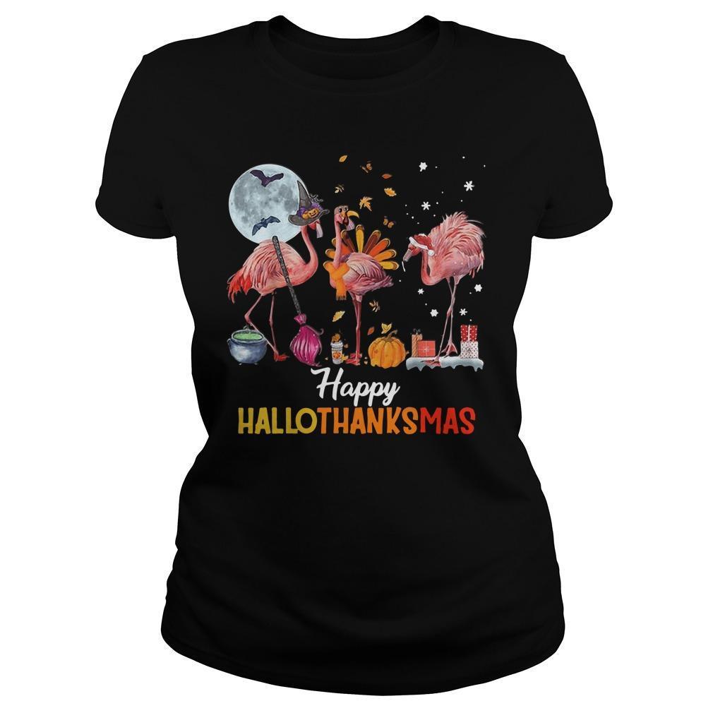 Flamingo Happy Hallothanksmas Longsleeve