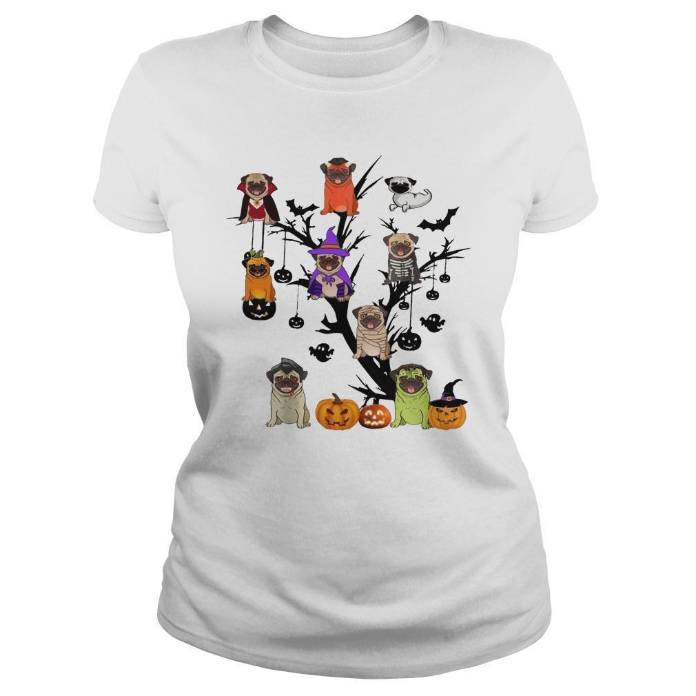Halloween Tree Pug Longsleeve