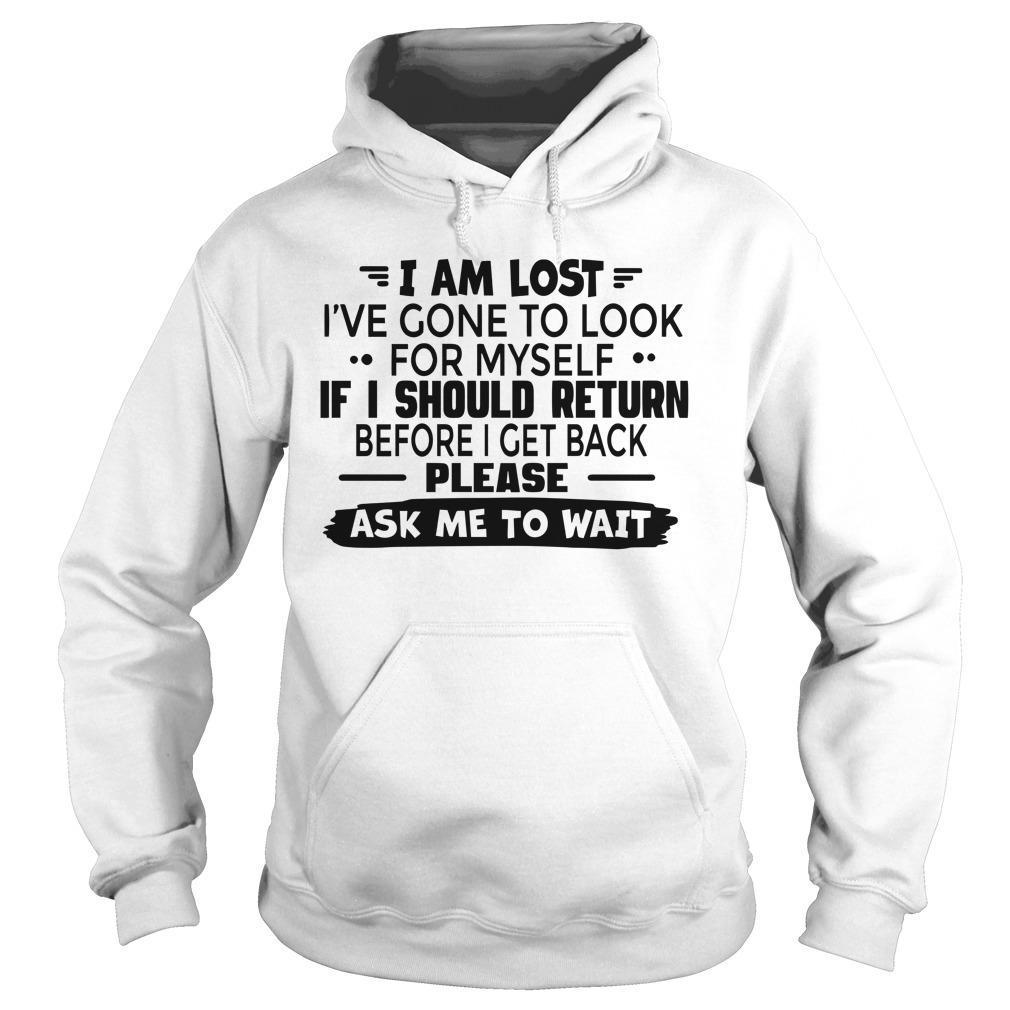 I Am Lost I've Gone To Look For Myself If I Should Return Hoodie