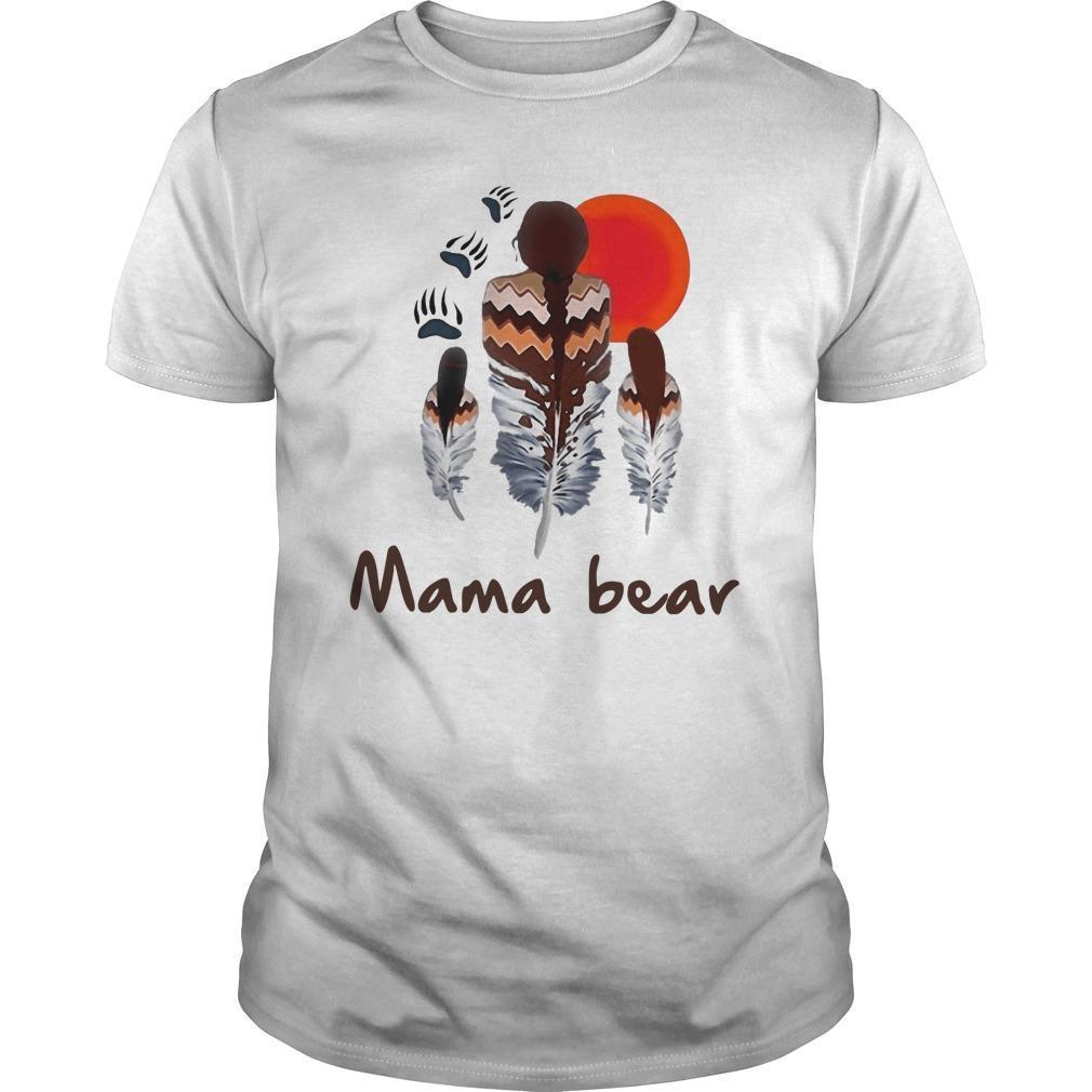 Native Feather Mama Bear Shirt