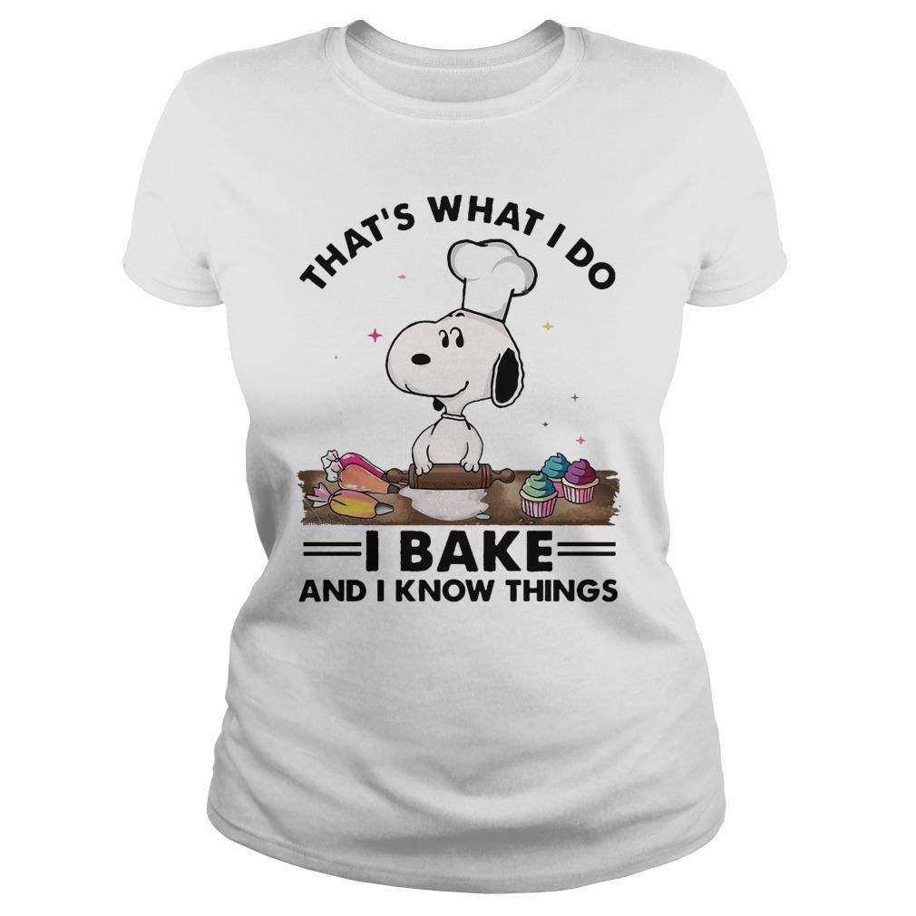 Snoopy That's What I Do I Bake And I Know Things Sweater
