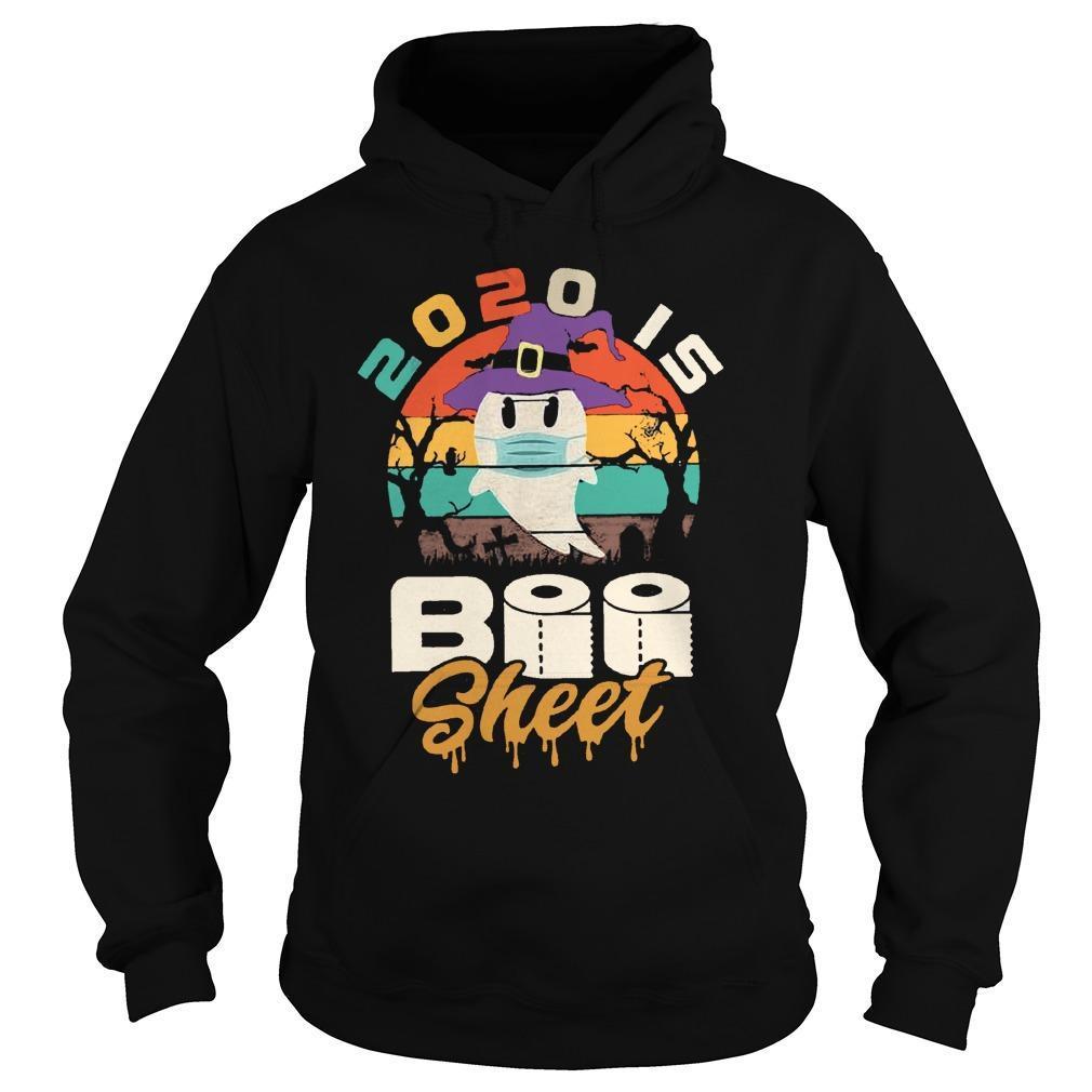 Vintage 2020 Is Boo Sheet Hoodie