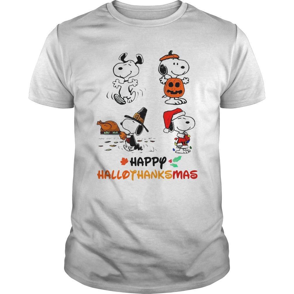 Snoopy Happy Hallothanksmas Shirt