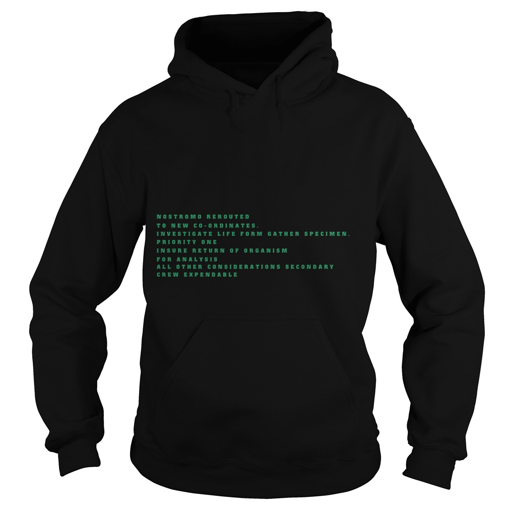 Nostromo Rerouted To New Cooridates Hoodie