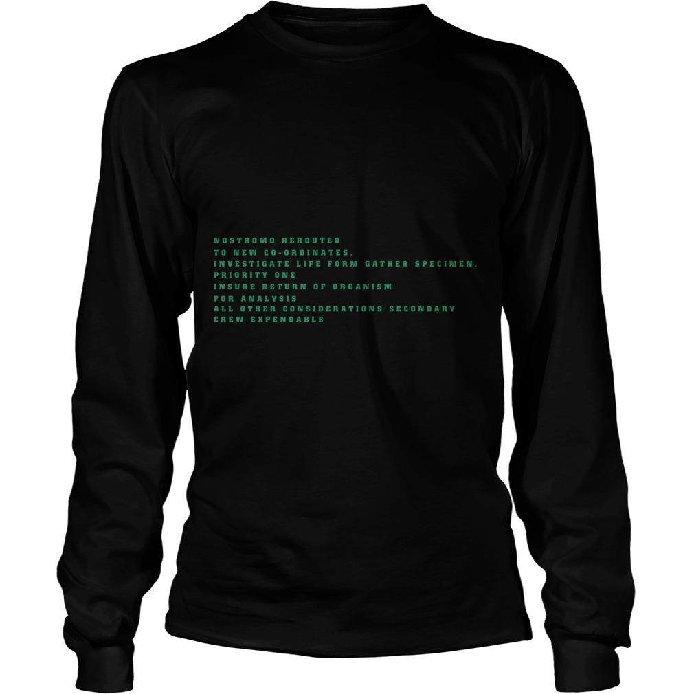 Nostromo Rerouted To New Cooridates Longsleeve