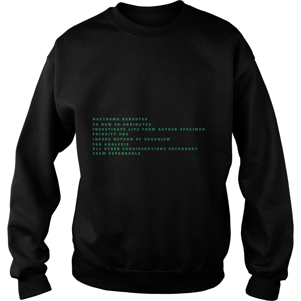 Nostromo Rerouted To New Cooridates Sweater