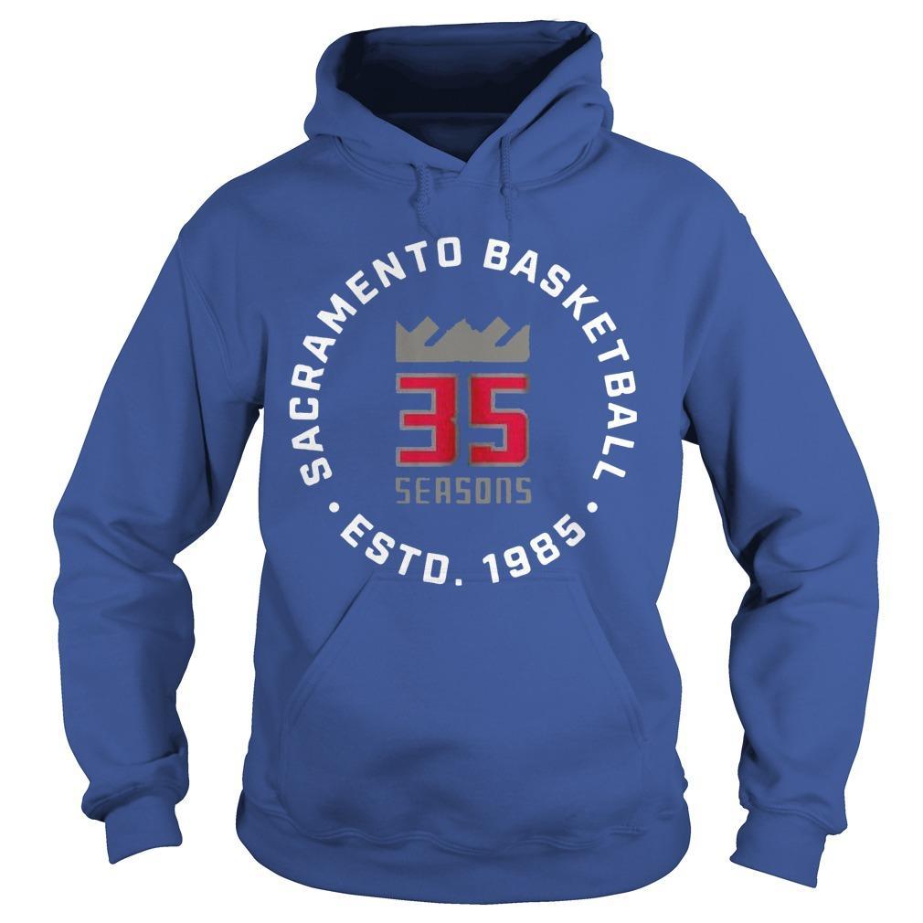 35 Seasons Sacramento Basketball Esto 1985 Hoodie