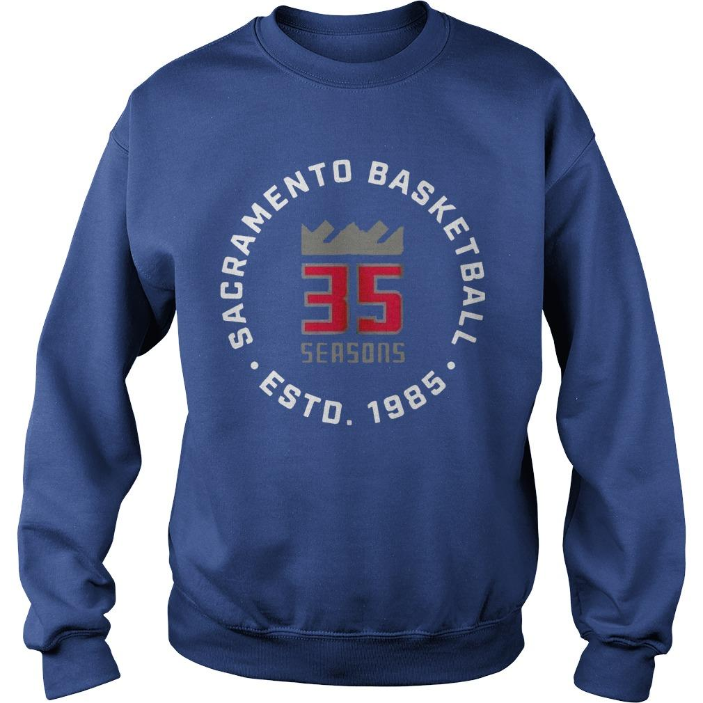 35 Seasons Sacramento Basketball Esto 1985 Sweater